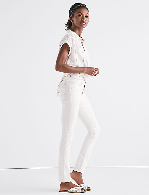Lucky Hayden High Rise Sculpting Jean In Crema