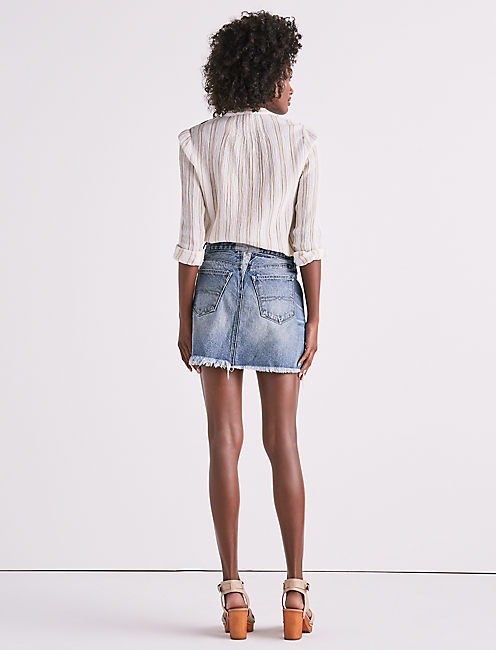 OLD FAVORITE DENIM MINI SKIRT,