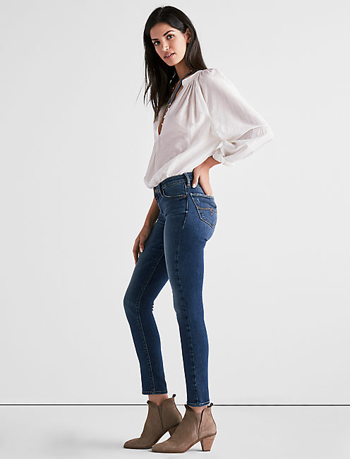 Lucky Lolita Mid Rise Crop Jean In Citrus Springs