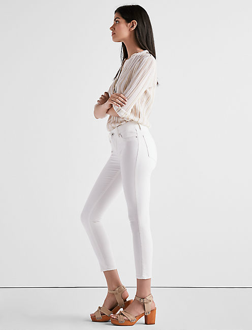 Lucky Lolita Mid Rise Crop Jean In Crema