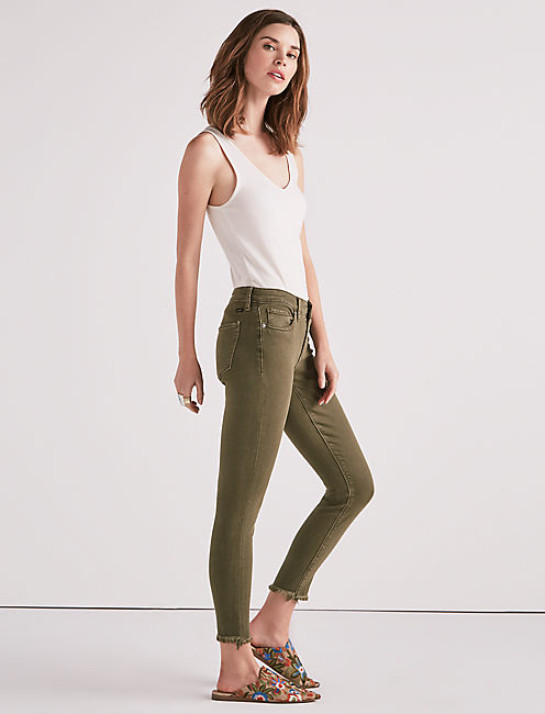 Lucky Ava Mid Rise Super Skinny Jean In Opal