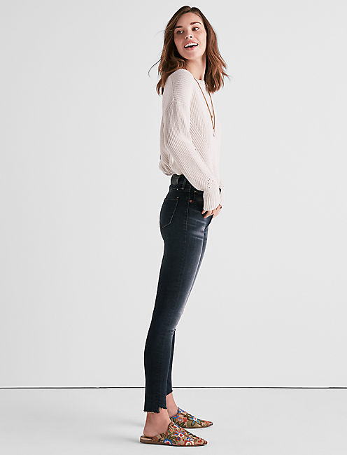 Lucky Bridgette High Rise Skinny Jean With Angled Hem