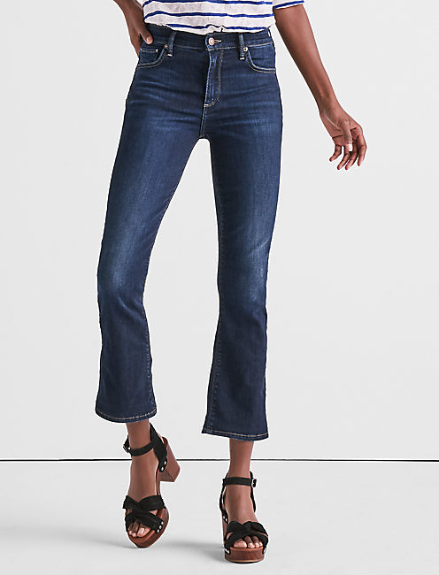 BRIDGETTE CROPPED BOOT JEAN IN TWILIGHT BLUE,