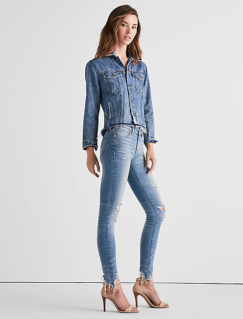 Lucky Ava Mid Rise Skinny Jean In Casa Adobes