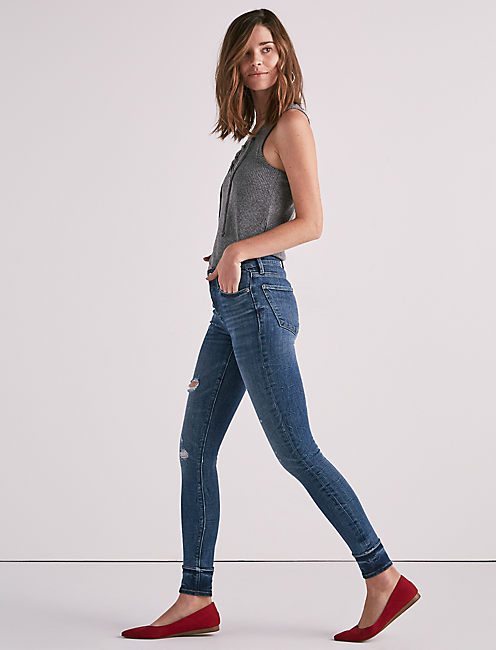 Lucky Ava Mid Rise Skinny Jean In Token