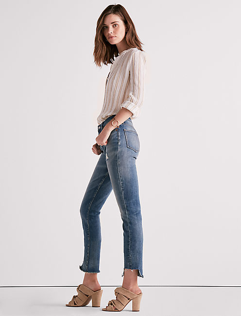 Lucky High Rise Tomboy Jean With Side Step Hem