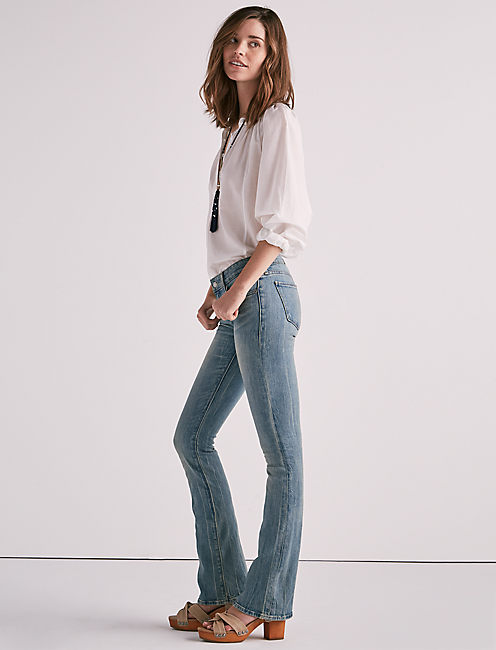STELLA LOW RISE BOOTCUT JEAN IN WATERSTOP, WATERSTOP
