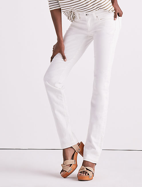 SWEET MID RISE STRAIGHT LEG JEAN IN CREMA,