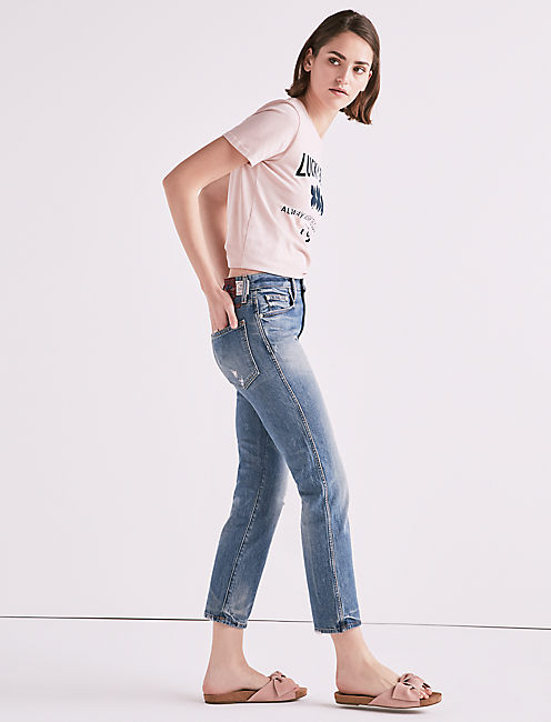 MADE IN L.A. LUCKY PINS HIGH RISE JEAN IN WILKINS, WILKINS