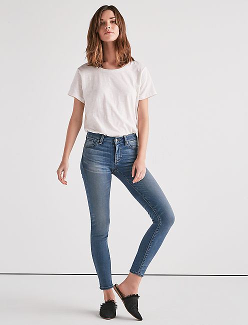 Lucky Sasha Super Skinny Jean In Cedar Creek