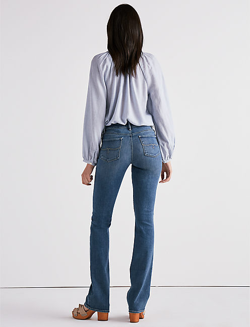 LOLITA MID RISE BOOT CUT JEAN IN SUNSET BLUE,