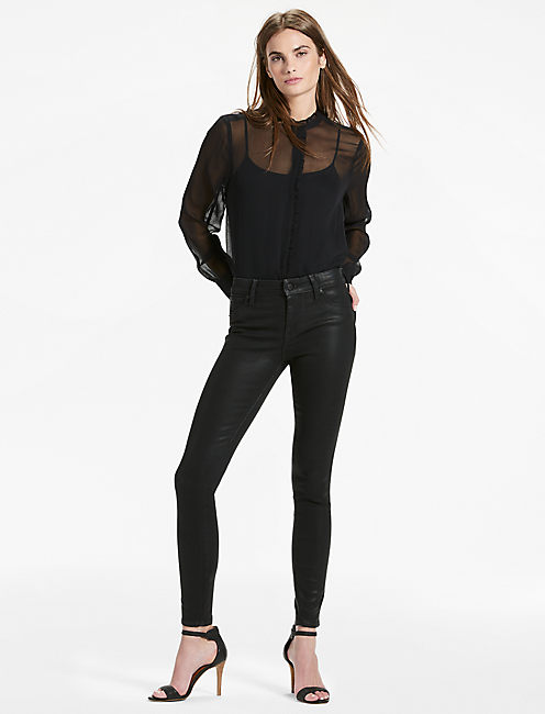 AVA MID RISE COATED LEGGING JEAN,