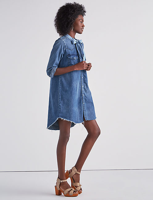 Lucky Western Shirt Dress In Ballard
