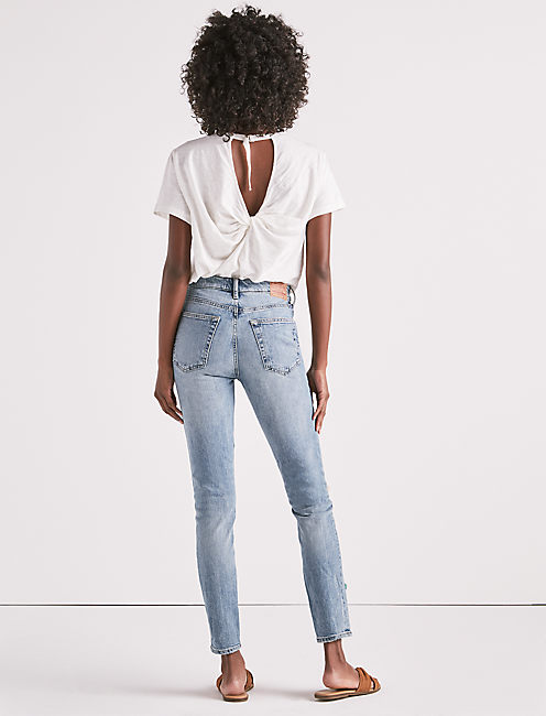 BRIDGETTE HIGH RISE SKINNY JEAN IN PACIFIC WOODS,
