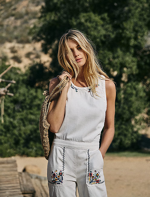 TOMBOY JUMPSUIT WITH EMBROIDERY,