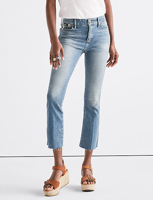 HAYDEN HIGH RISE MINI BOOT JEAN IN ROCKY RIVER,