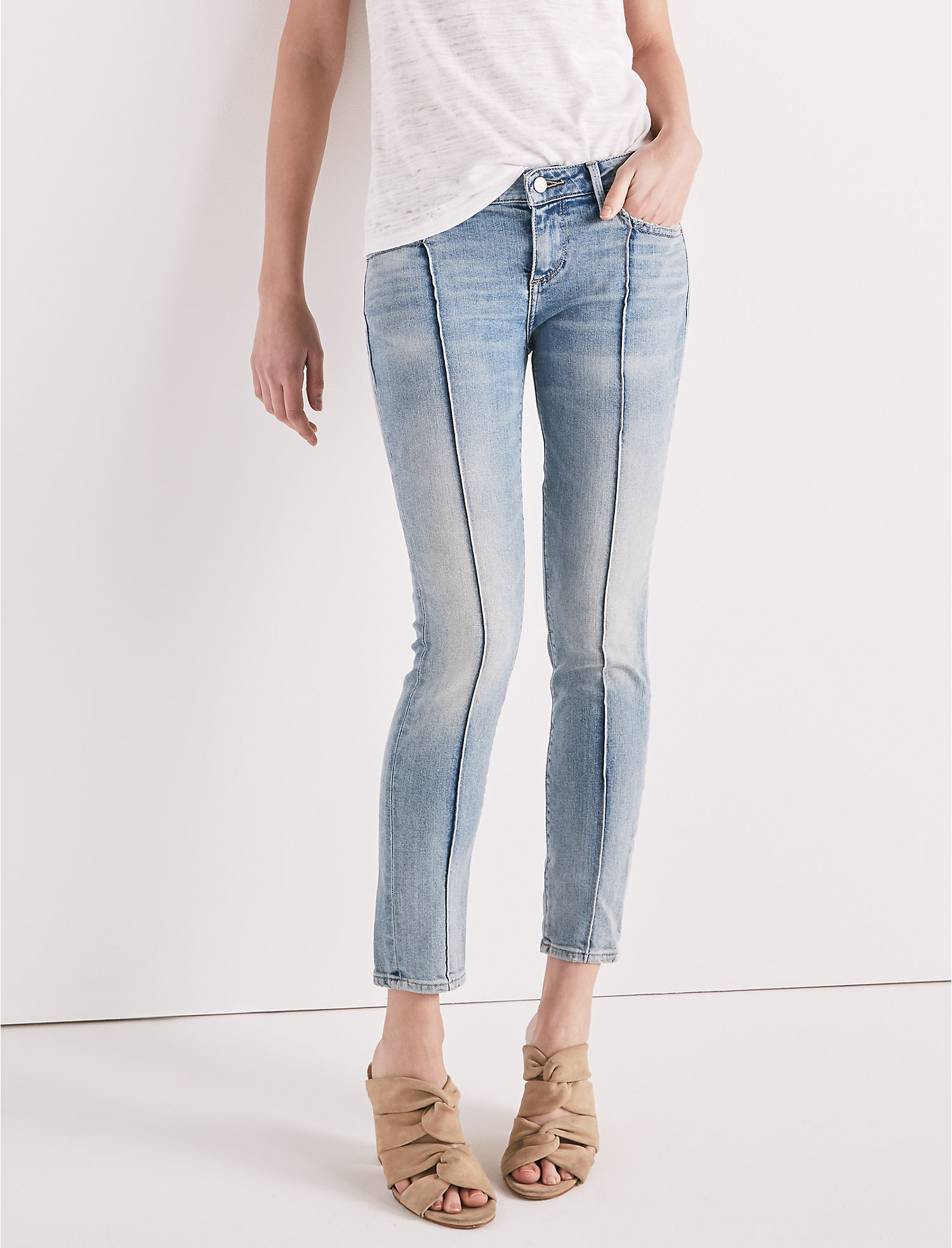 Lolita Mid Rise Skinny Jean With Pintuck | Tuggl