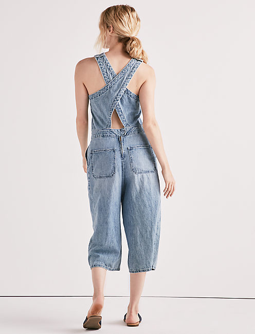 Lucky Chambray Crossback Culotte Jumpsuit
