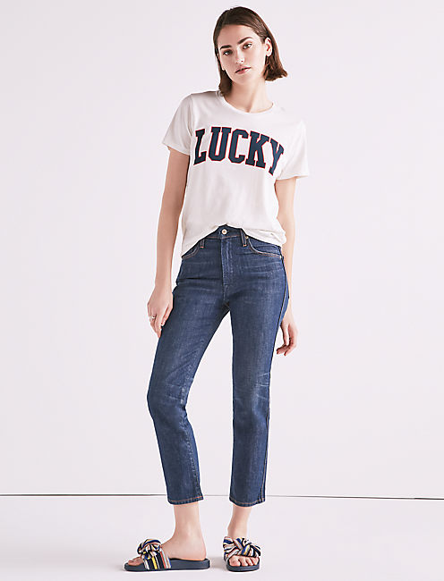 MADE IN L.A. LUCKY PINS HIGH RISE JEAN IN STARK,