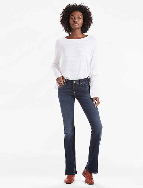 Lucky Lolita Bootcut Jean With Side Slit