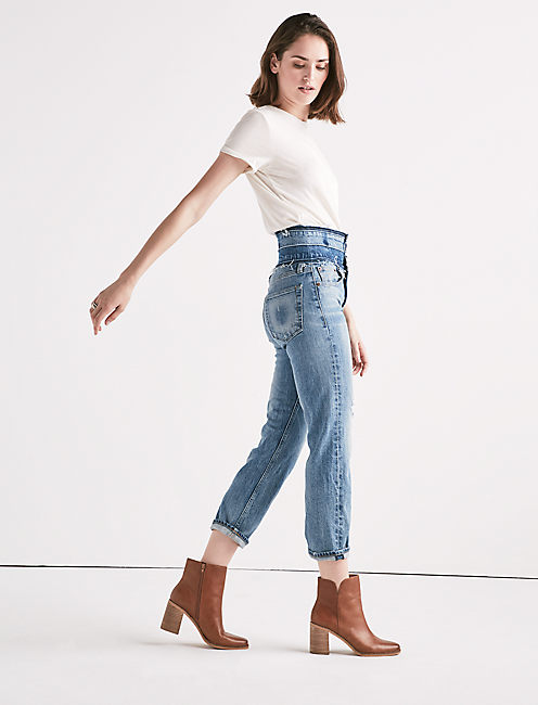 Lucky Remade High Rise Lucky Pins Stacked Waist Jean