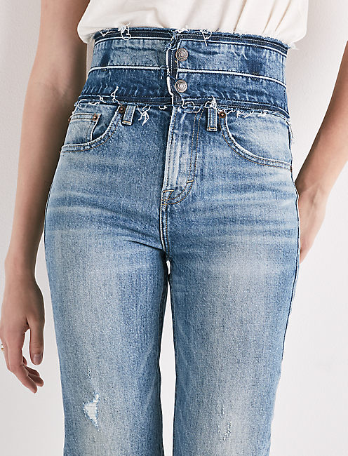 Remade High Rise Lucky Pins Stacked Waist Jean,