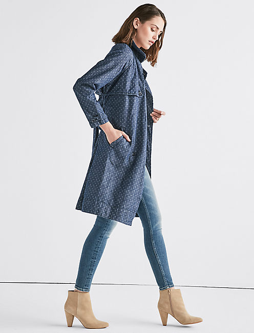 Lucky Polka Dot Jean Trenchcoat