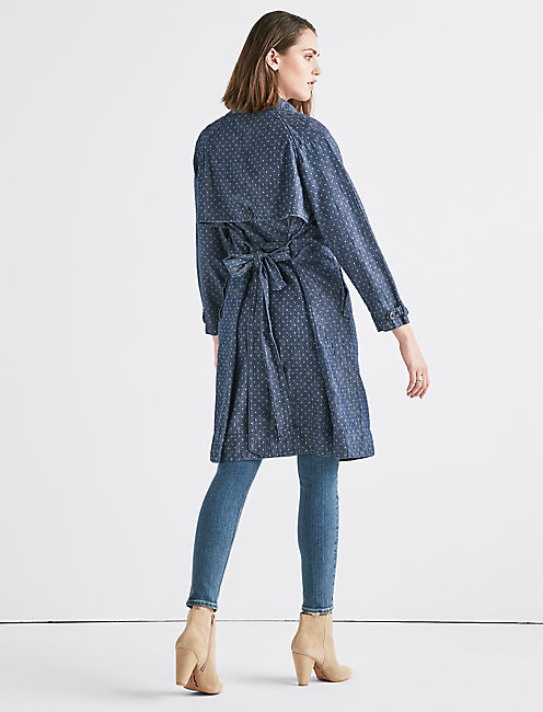 POLKA DOT JEAN TRENCHCOAT,