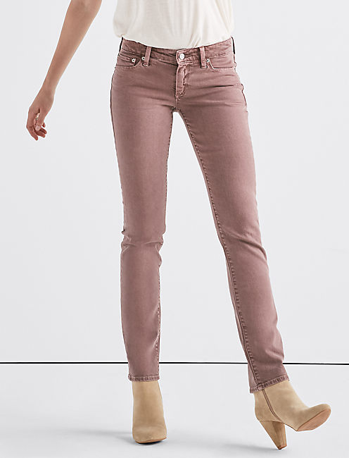 Sweet Mid Rise Straight Jean, PEPPERCORN