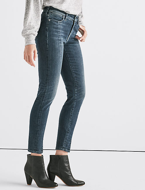Hayden High Rise Skinny Jean with Vent,