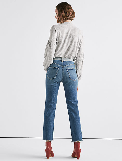 LUCKY REMADE LUCKY PINS CUSTOMIZED TAPERED JEAN,