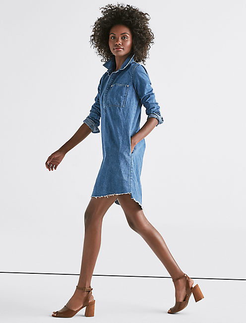 Lucky Denim Popover Dress