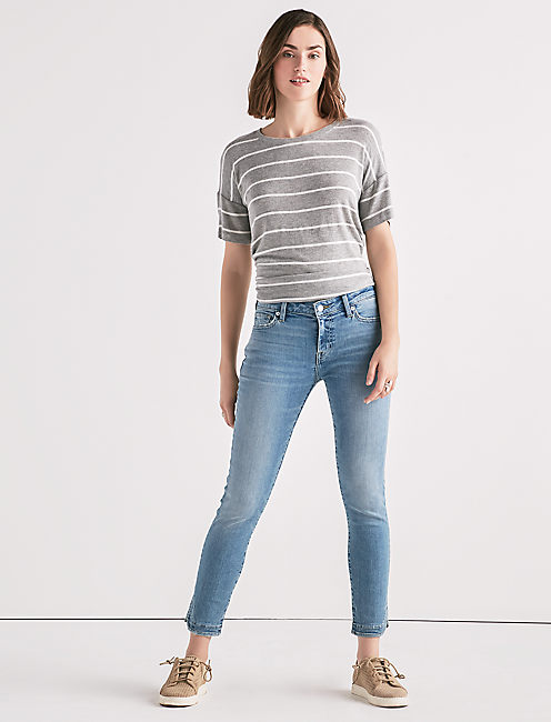 Lucky Lolita Mid Rise Skinny Jean With Tulip Hem