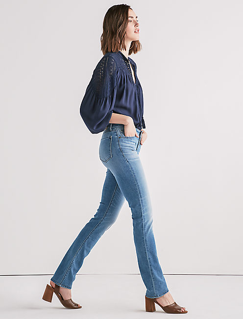 Lucky Ava Mid Rise Straight Jean