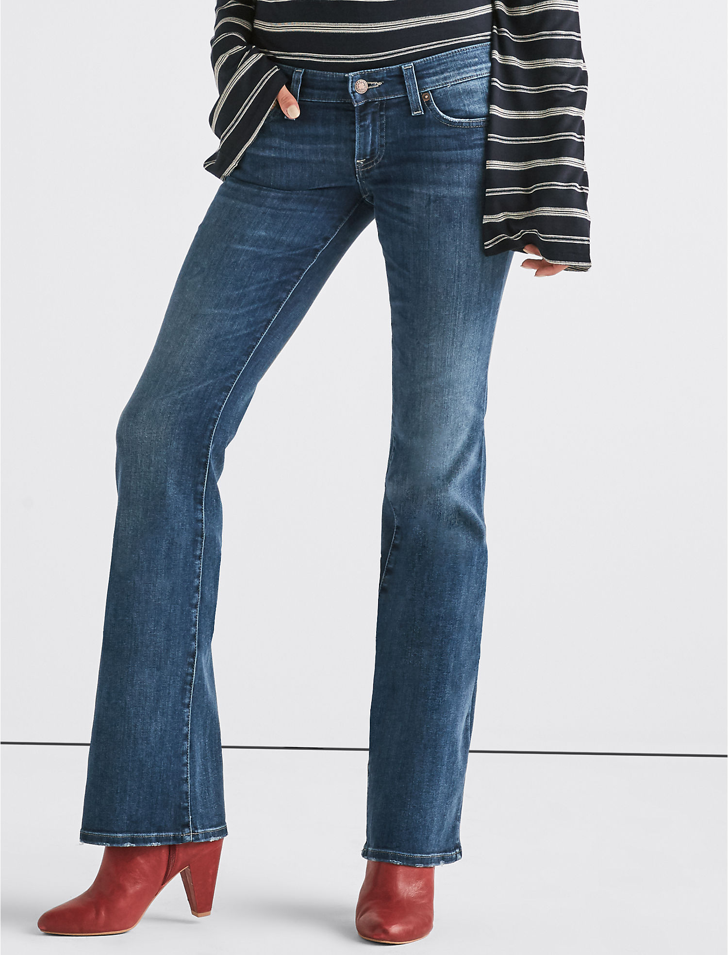 Lil Maggie Low Rise Flare Jean | Tuggl