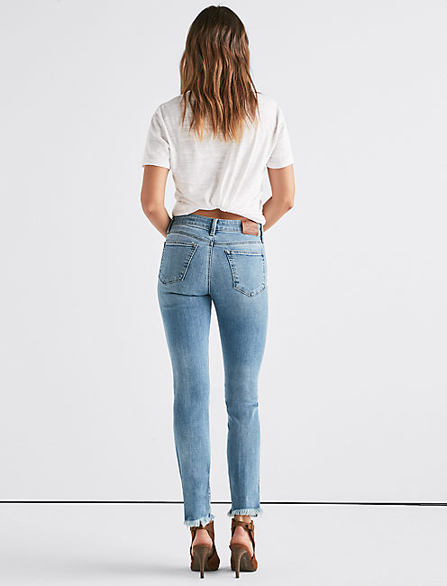 Ava Mid Rise Straight Jean with Vent,