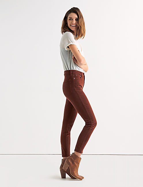 Lucky Bridgette High Rise Skinny Corduroy Pant