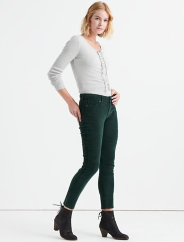 Lucky Lolita Mid Rise Skinny Corduroy Pant