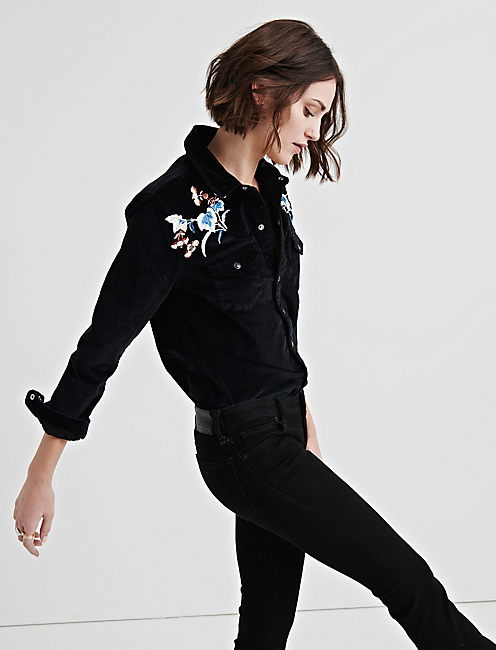 WESTERN SHIRT WITH EMBROIDERY,