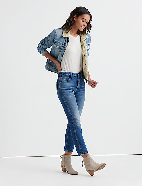 Lucky Sherpa Denim Trucker Jacket