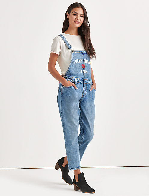 Lucky Totally Lucky Boyfriend Denim Overalls