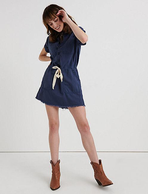 DRAWSTRING DRESS,