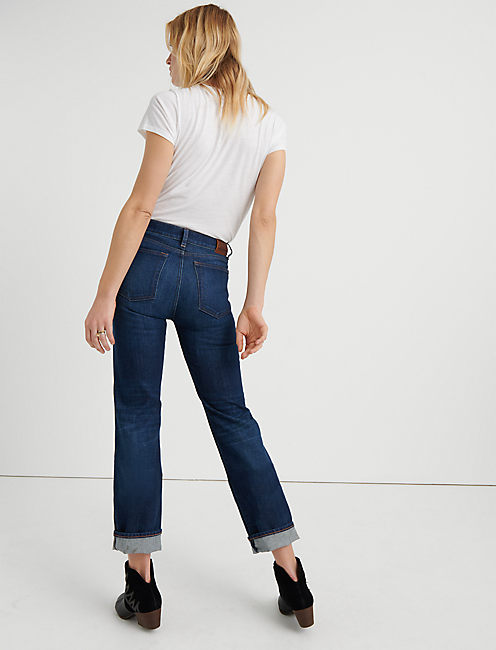 MID RISE AUTHENTIC STRAIGHT CROP, FUEGO