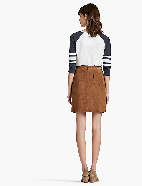SUEDE SKIRT,