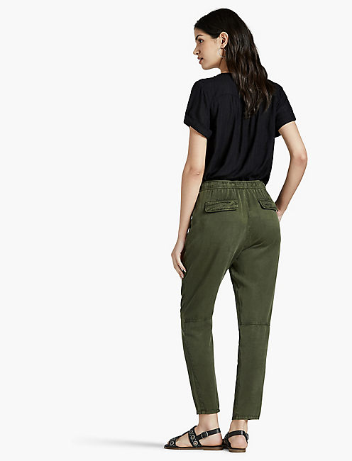 TENCEL TWILL PANT, MILITARY OLIVE