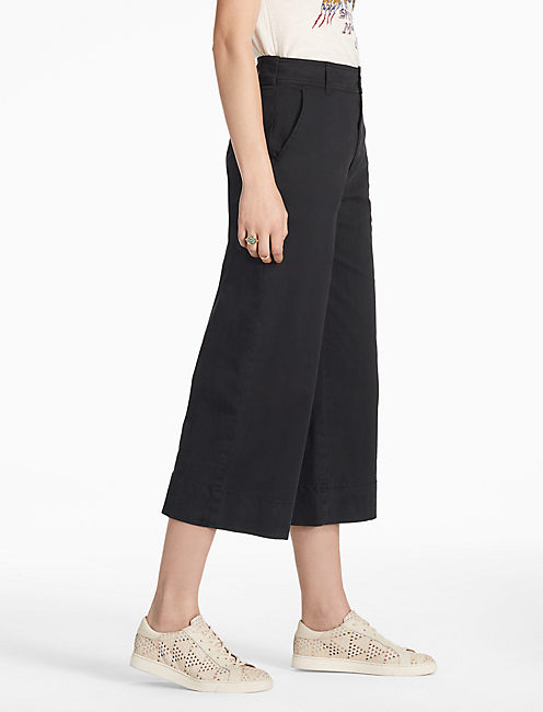 WIDE LEG CROP, LUCKY BLACK #001