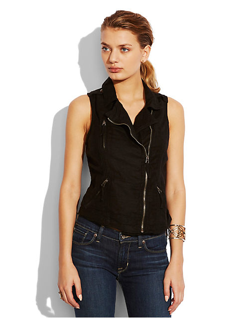 BLACK MOTO VEST, 001 LUCKY BLACK