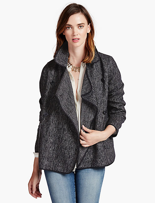 Drapy Front Wool Jacket by Lucky Brand