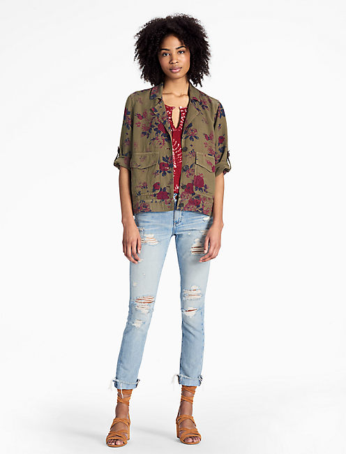 Lucky Floral Military Jacket