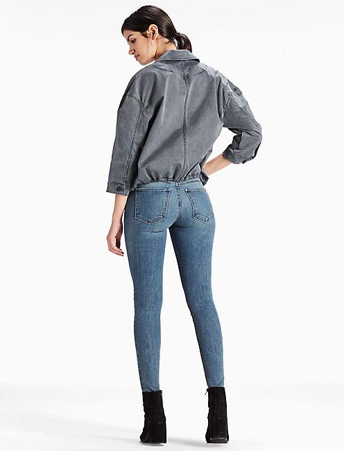 Stretch Cotton Lapel Jacket,